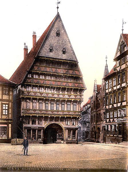 Hildesheim. Knochenhaueramtshaus. Postcard 1900