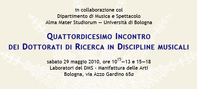 dottorati in discipline musicali